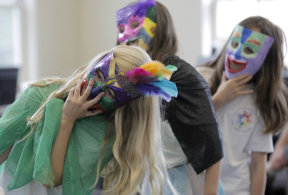2015 CCMS Creative Arts Camp kids in masks c Geoff Forester web